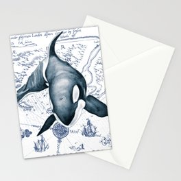 Orca Ancient Map Stationery Cards
