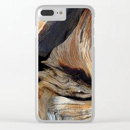 Whorl Juniper Tree Trunk Clear iPhone Case
