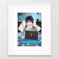 levi Framed Art Prints featuring Levi  by shiio