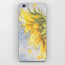 Helianthus annuus: Sunflower Abstraction iPhone Skin
