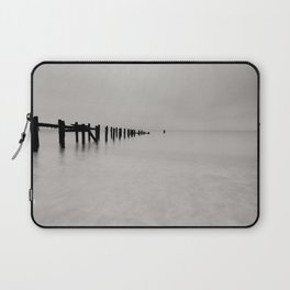 black and white untitled ocean Laptop Sleeve
