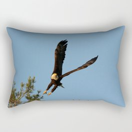 The Crow And Bald Eagle Rectangular Pillow