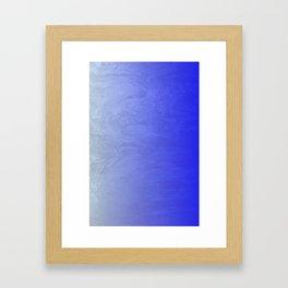 Blue Ice Glow Framed Art Print