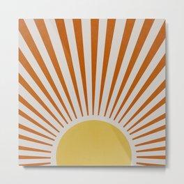 Yellow orange retro sunlight Metal Print