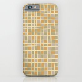 Mosaic pattern in golden sand tones iPhone Case