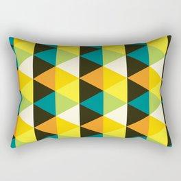 Geometric Pattern 60 (teal orange yellow triangles) Rectangular Pillow