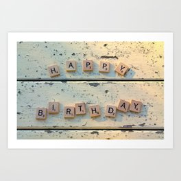 HAPPY BIRTHDAY Art Print