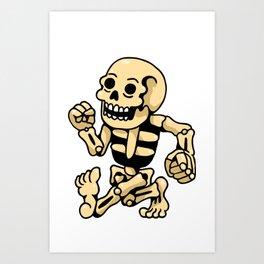 crew white skull Art Print