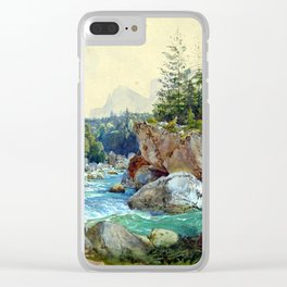 Thomas Ender Wooded River Landscape in the Alps Clear iPhone Case