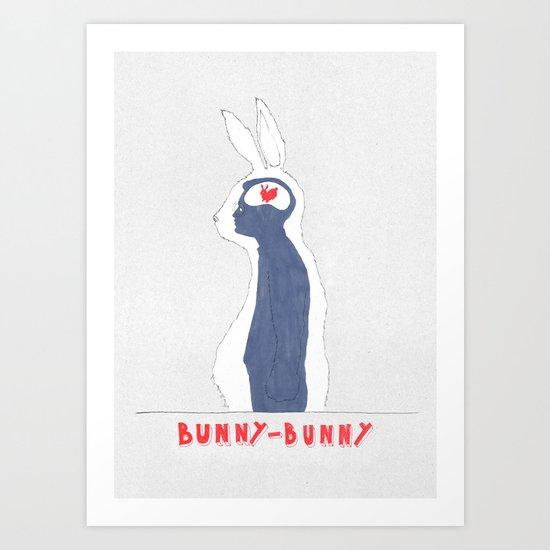 Brain Bunny Art Print