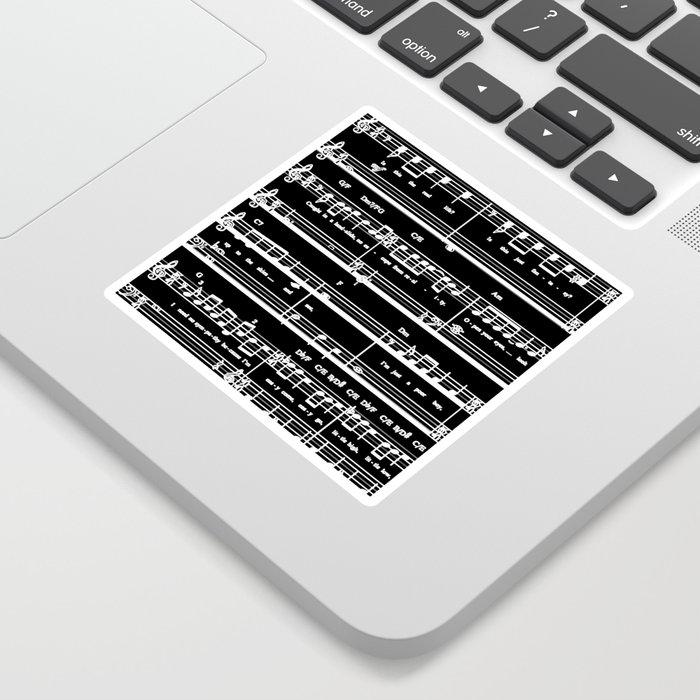 Music sheet Sticker