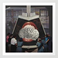 brain Art Prints featuring Brain by •ntpl•