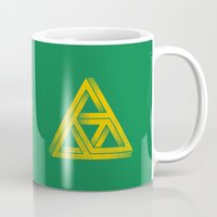 triforce Mugs featuring Penrose Triforce by John Tibbott