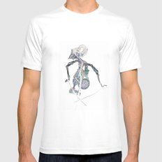 SHADOW PUPPET Mens Fitted Tee White MEDIUM