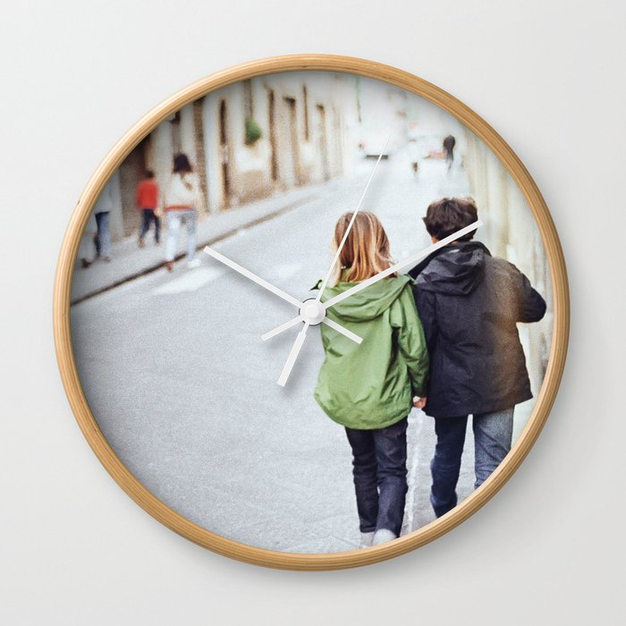 Kid Couple - Florence, Italy Wall Clock