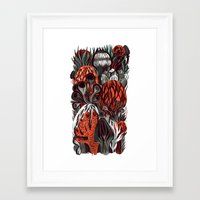 mushrooms Framed Art Prints featuring Mushrooms by pam wishbow