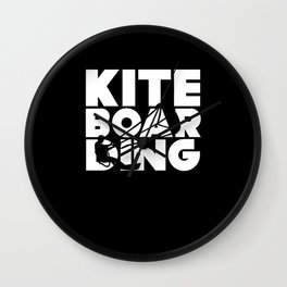 Kiteboarding Kitesurfing Kitesurfers Wall Clock