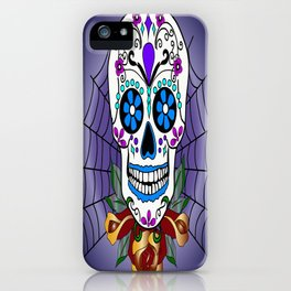 Rose, the Day of the Dead Skull  iPhone Case