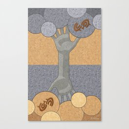 Deeply Rooted - (Artifact Series) Canvas Print
