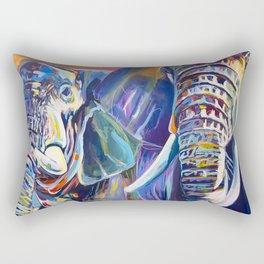 Elephant Duo Rectangular Pillow
