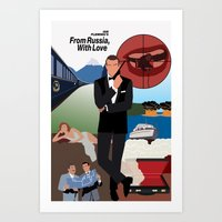 Ian Fleming's From Russia, With Love Art Print
