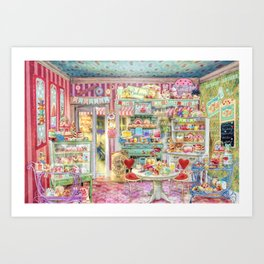 The Little Cake Shop Art Print