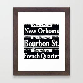 NEW ORLEANS FRENCH QUARTERS Framed Art Print