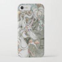 the last unicorn iPhone & iPod Cases featuring The Last Unicorn by Bonnie Johnson