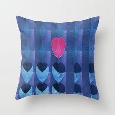Fractal Art- Heart Art- Pink Heart- Blue Heart-U Know It- Childrens Art-Love Throw Pillow