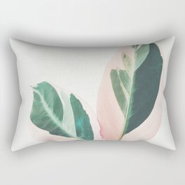 Pink Leaves I Rectangular Pillow