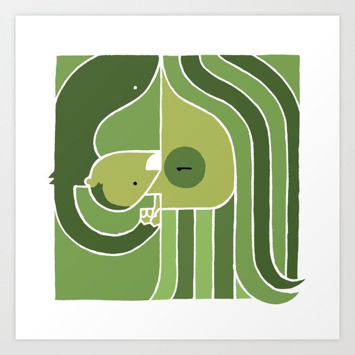John & Monkey Art Print