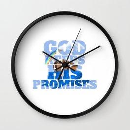 God Keeps His Promises Beautiful Noahs Ark Gift Wall Clock