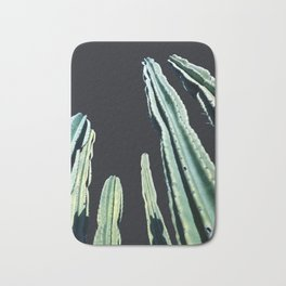 Green Cactus 8 at Night Bath Mat