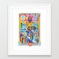 bicycle Framed Art Prints featuring bicycle by yoaz