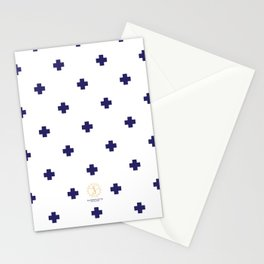 Modern Swiss - Bold Style Cross Plus Sign Stationery Cards