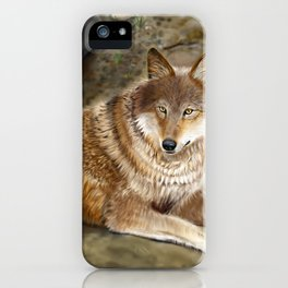 Wolf by the Riverbed iPhone Case