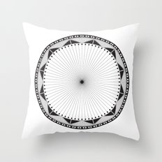 Circle Pattern 228 Throw Pillow