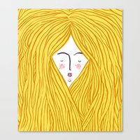 blondie Canvas Prints featuring Blondie by Katie L Allen