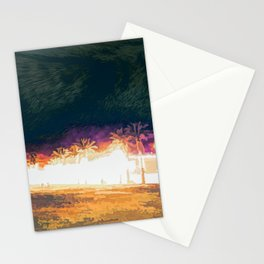 City Park at night 4 Stationery Cards