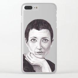 Helene Cixous Clear iPhone Case