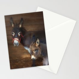 Miniature Donkey Baby with Mom Stationery Cards