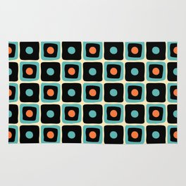 Mid Century Square Dot Pattern 4 Rug