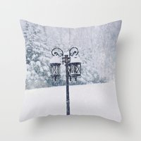 narnia Throw Pillows featuring Welcome to Narnia by Angela Stansell Photography