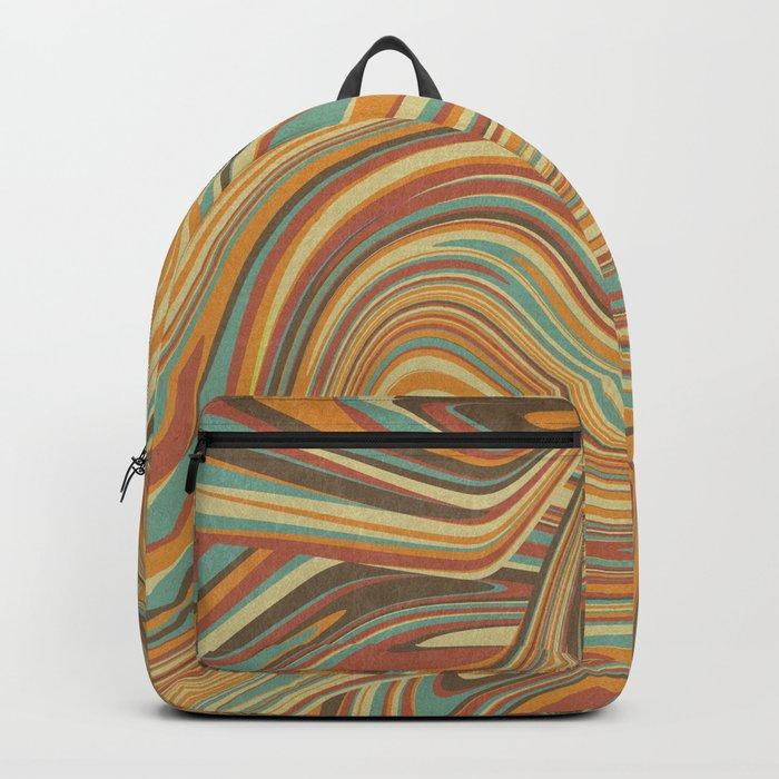 Rainbow Marble Organic Texture Backpack
