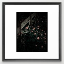 on the fence and in the dark Framed Art Print