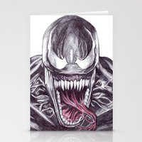 venom Stationery Cards featuring Venom by DeMoose_Art