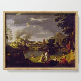 Nicolas Poussin - Landscape with Orpheus and Eurydice Serving Tray
