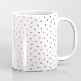 Cool Rose Gold Polka Dots Coffee Mug