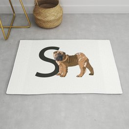 S is for Shar Pei Rug
