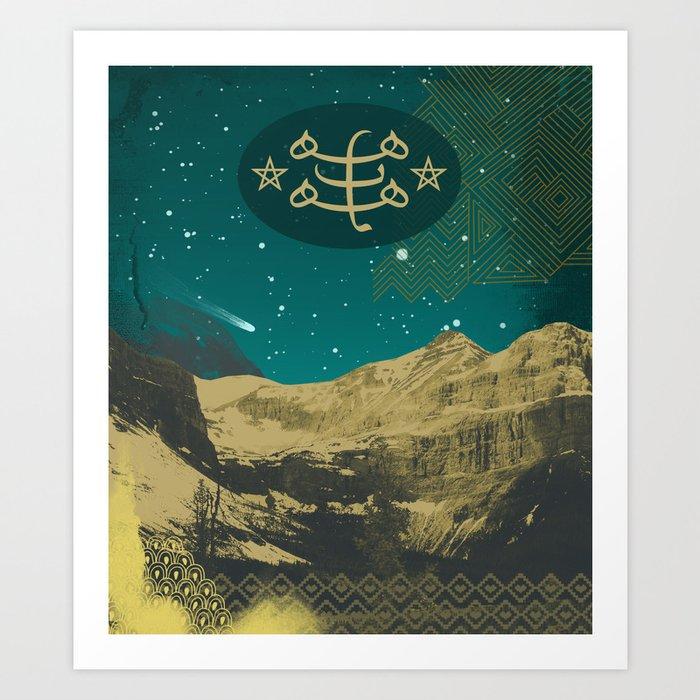 Bahai Ringstone Symbol Night Sky Art Print By Mishablaise Society6
